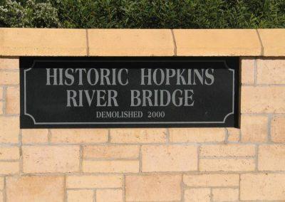 Sign Hopkins Bridge 230807